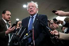 FILE � Sen. Bernie Sanders (I-Vt.) speaks to reporters on Capitol Hill in Washington, Nov. 28, 2018. Many of Sanders' former staff members, delegates and supporters say he needs to address lingering claims of sexism from his 2016 campaign if he is to run again. (Sarah Silbiger/The New York Times)