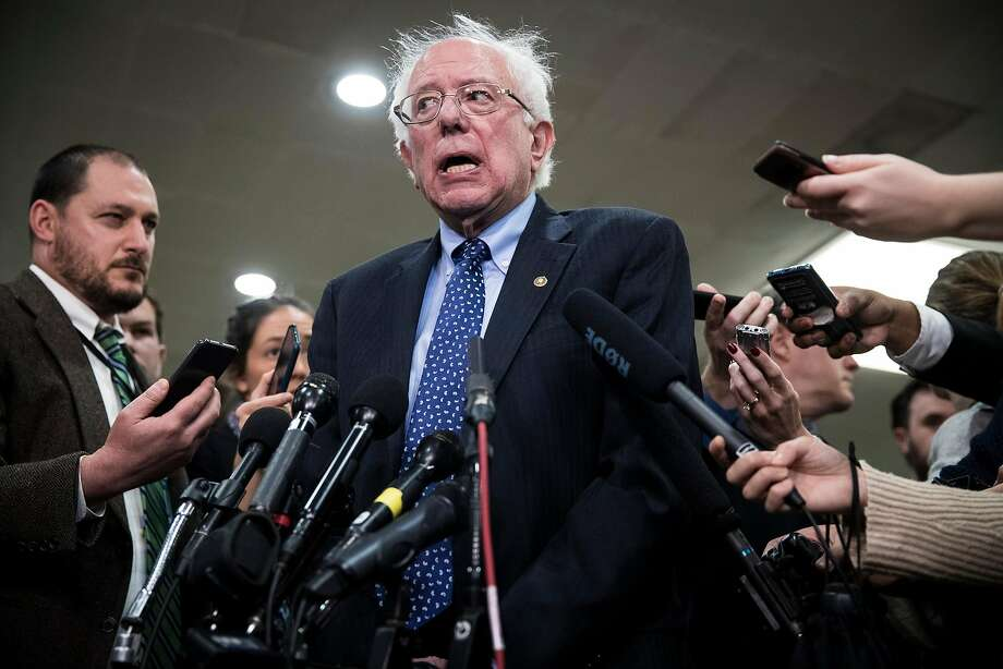 """Sen. Bernie Sanders apologized """"to any woman who felt that she was not treated appropriately,"""" after news reports that some of his 2016 campaign staffers face allegations of sexual harassment. Photo: Sarah Silbiger / New York Times 2018"""