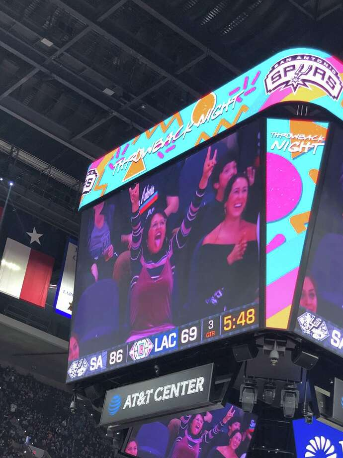 "Also known as the ""Dancing Fan,"" Alexandra Flores became a star of the AT&T Center during Spurs games in December. Her shenanigans started on Dec. 13, when the Spurs took the court against the Los Angeles Clippers and Flores took the stage. Photo: Courtesy, Alexandra Flores"