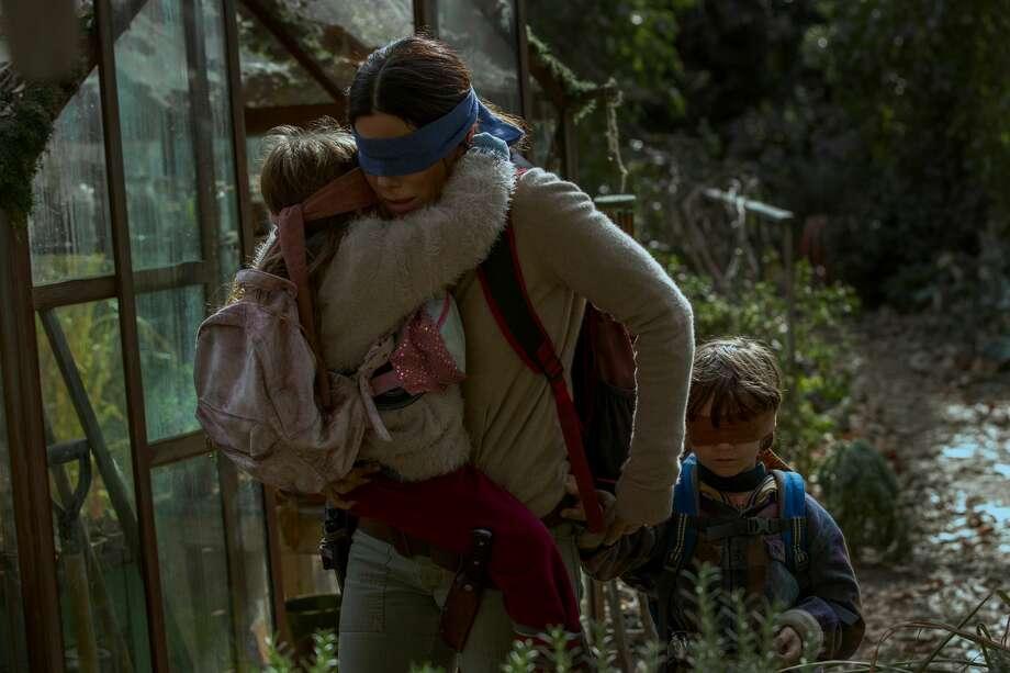 """A still from Netflix's """"Bird Box"""" depicts Malorie (Sandra Bullock). Photo: Saeed Adyani/Saeed Adyani/Netflix"""