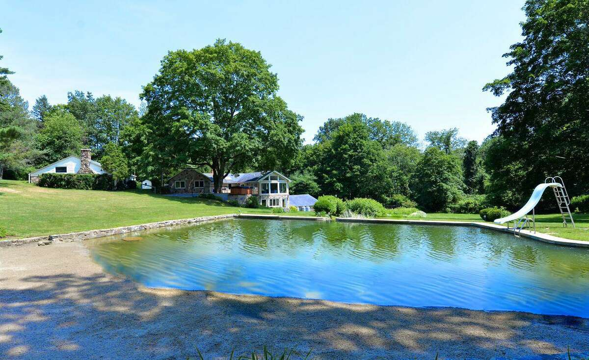 The swimming pond at 165 Ponus Ave. in Norwalk.
