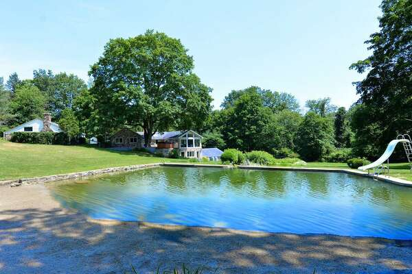 The swimming pond at 165 Ponus Ave. in Norwalk.