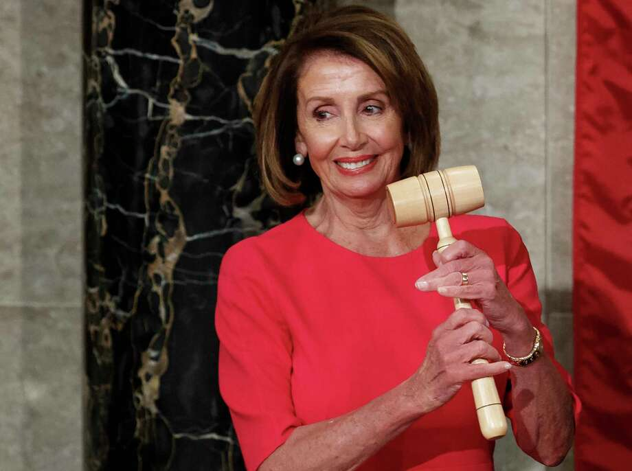 House Speaker Nancy Pelosi of California holds the gavel after at the Capitol in Washington, Thursday, Jan. 3, 2019. Photo: Carolyn Kaster, AP / Copyright 2018 The Associated Press. All rights reserved