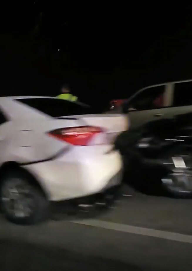 Video obtained by mySA.com has provided a closer look at a massive pileup on a South Side highway that left a 26-year-old man dead. Photo: Courtesy, John Garica Jr.