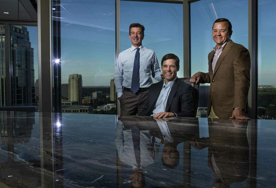 Platform Partners (LtoR) chairman Fred Lummis, CEO Fred Brazelton and president Brad Morgan focus on Houston and Texas-based companies for their private equity firm. Photographed in their offices in the Amegy building, Monday, Dec. 17, 2018 in Houston. Photo: Mark Mulligan, Houston Chronicle / Staff Photographer / © 2018 Mark Mulligan / Houston Chronicle