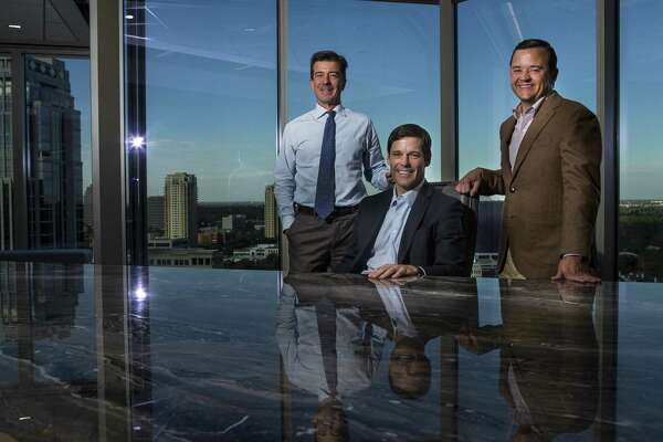 Platform Partners (LtoR) chairman Fred Lummis, CEO Fred Brazelton and president Brad Morgan focus on Houston and Texas-based companies for their private equity firm. Photographed in their offices in the Amegy building, Monday, Dec. 17, 2018 in Houston.