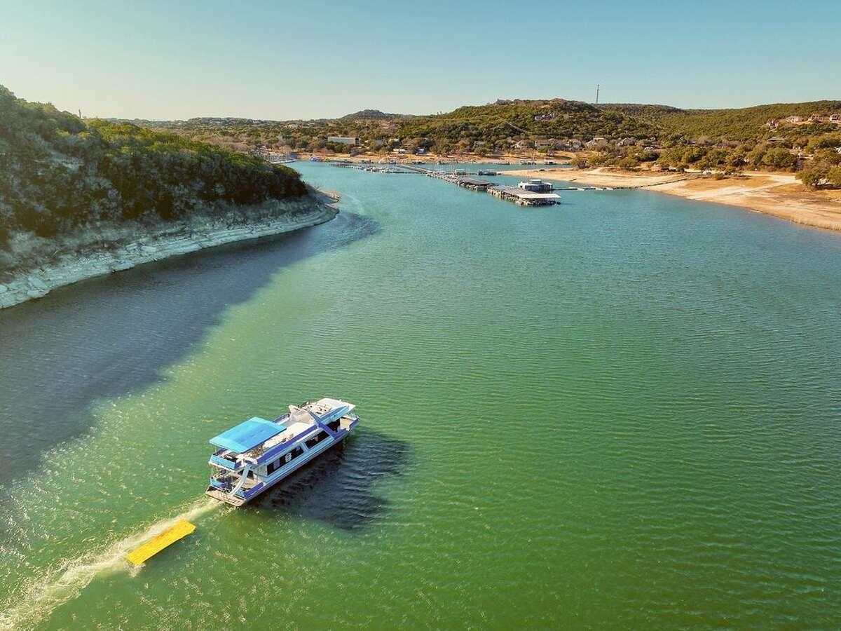 Margaritaville Houseboat on Lake Travis Average price per night: $2,161 Sleeps: 50 Average price per person: $43