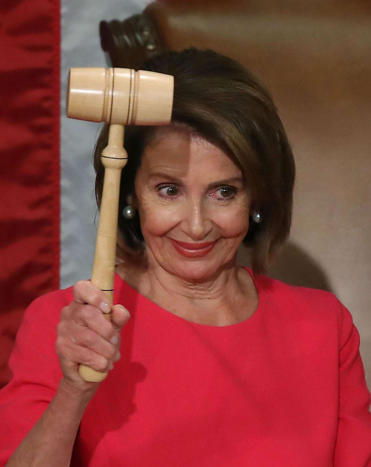 WASHINGTON, DC - JANUARY 03: Speaker of the House Rep. Nancy Pelosi (D-CA) holds the gavel during the first session of the 116th Congress at the U.S. Capitol January 3, 2019 in Washington, DC. Under the cloud of a partial federal government shutdown, Pelosi will reclaim her former title as Speaker of the House and her fellow Democrats will take control of the House of Representatives for the second time in eight years. (Photo by Mark Wilson/Getty Images)