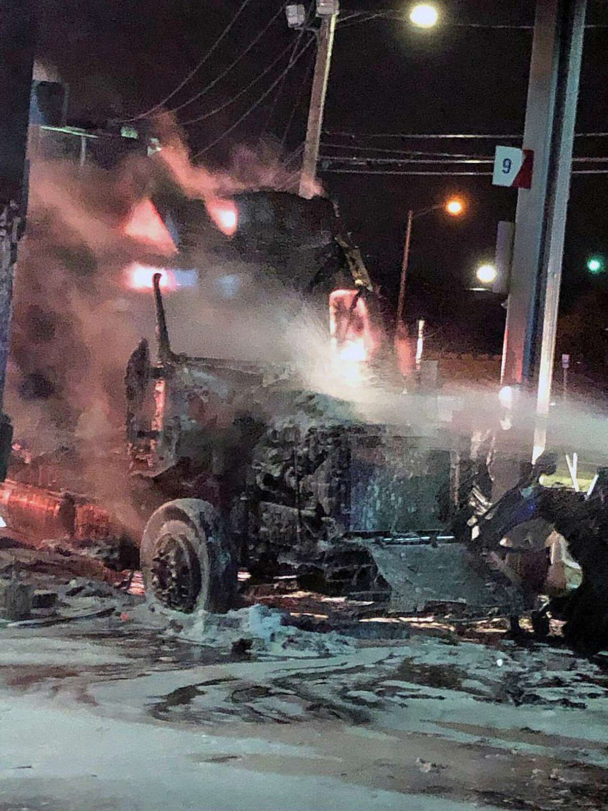 Ther was a fire at Wheels in Milford, Conn., on Jan. 3, 2019.