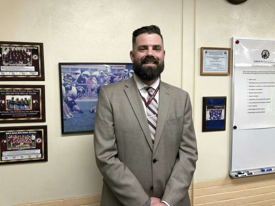 Patrick Stirk,  principal at Ridge Road Elementary School, was appointed North Haven superintendent of schoolsThursday. Photo: Ben Lambert / Hearst Connecticut Media