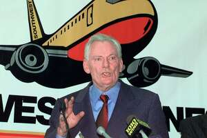 Southwest Airlines flight attendants have been wearing buttons of the beloved Herb Kelleher, above, who was president and CEO. The current CEO is no Herb, one employee says.