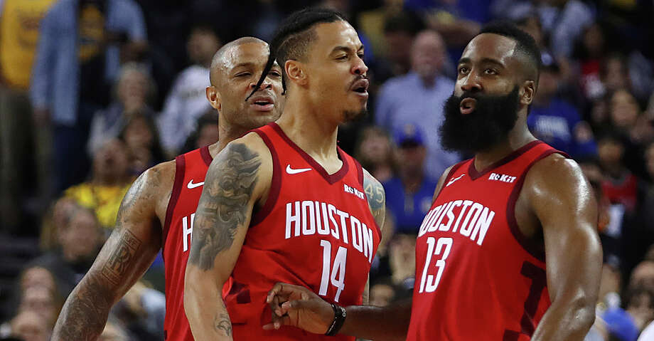 ea563c7c93c PHOTOS  A look at the Rockets  incredible comeback win over the Warriors in  overtime
