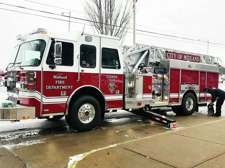 For the first time since 2012, the Midland Fire Department has received a new vehicle, which arrived on Dec. 3. Personnel were trained on the ladder until it went active on Dec. 21. (Jordyn Hermani/jordyn.hermani@hearstnp.com)