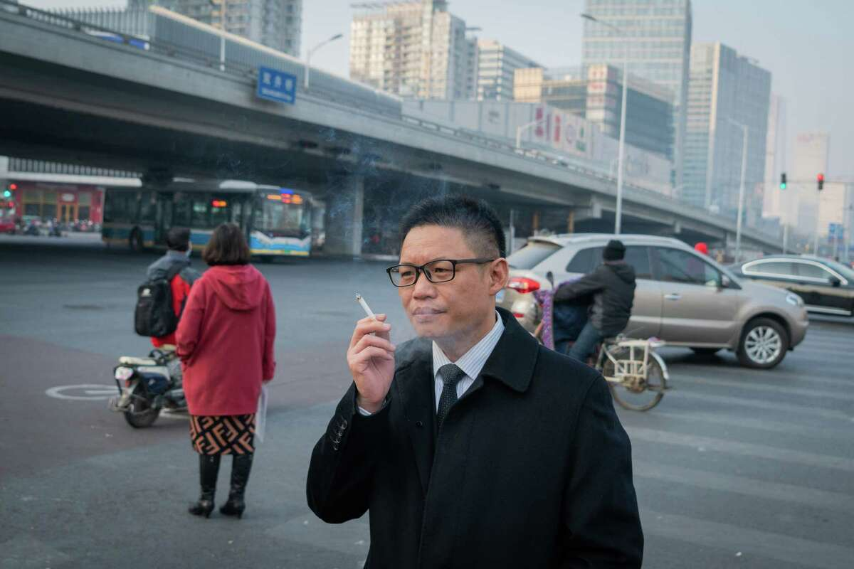 Finance commentator He Jiangbing said there are fears that a full-scale crackdown on Twitter would choke off the last online venue in China for open intellectual debate. He is shown Nov. 30, 2018, in Beijing.