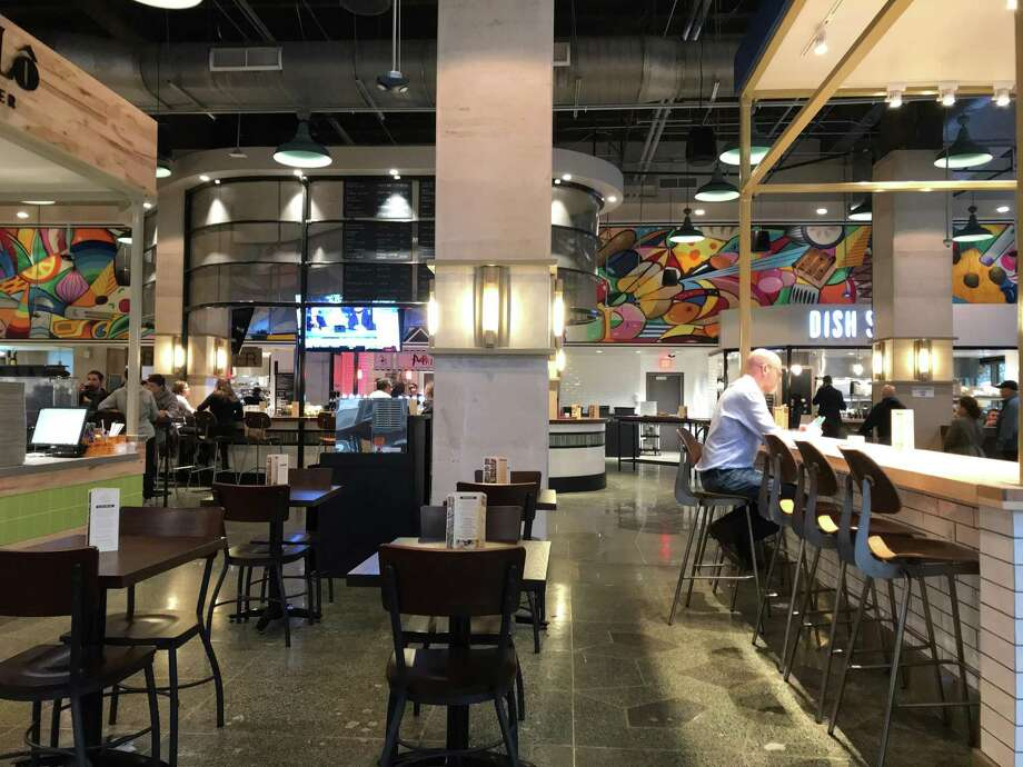 Finn Hall Where: 712 Main This 20,000-square-foot food hall includes a craft beer pour spot as well as various restaurants, including Craft Burger, Mala Sichuan, Dish Society, Amaya Coffee, etc. Photo: Alison Cook / Staff