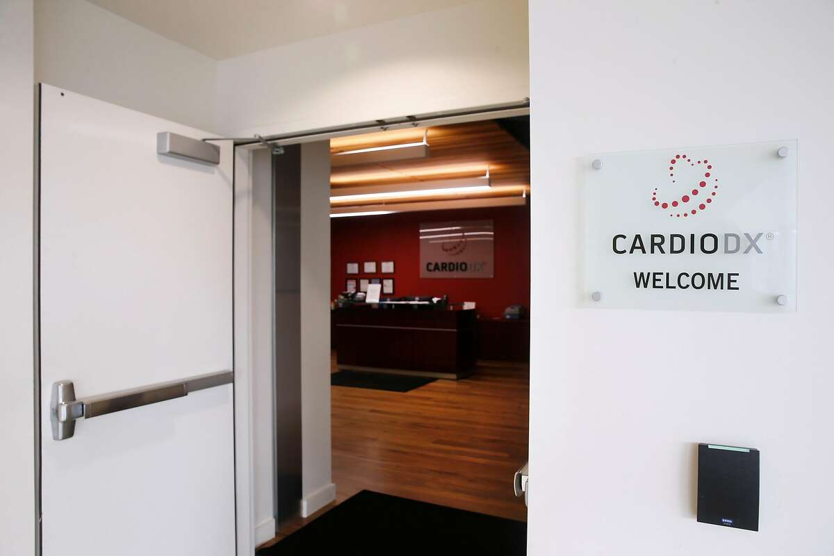 The reception area for CardioDX is open but unstaffed in Redwood City, Calif. on Friday, Jan. 4, 2019. The company specializing cardiovascular genomics abruptly shut down its operation.