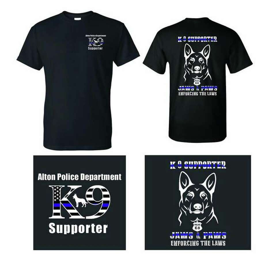 Sample of the Alton Police Department's 'K-9 Supporter' t-shirt that is currently on sale. Photo: For The Telegraph