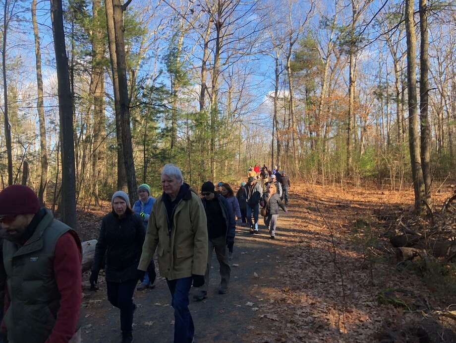 Nearly 300 people participated in two hikes held at Sessions Wood State Park as part of First Day Hikes on Jan. 1, 2019. Photo: Contributed Photo /