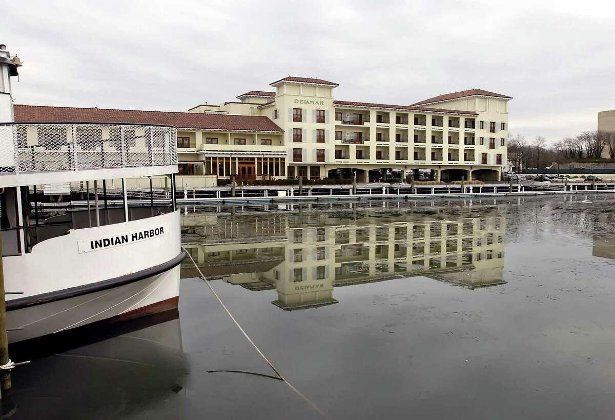 The Delamar hotel in Greenwich overlooks Greenwich Harbor.