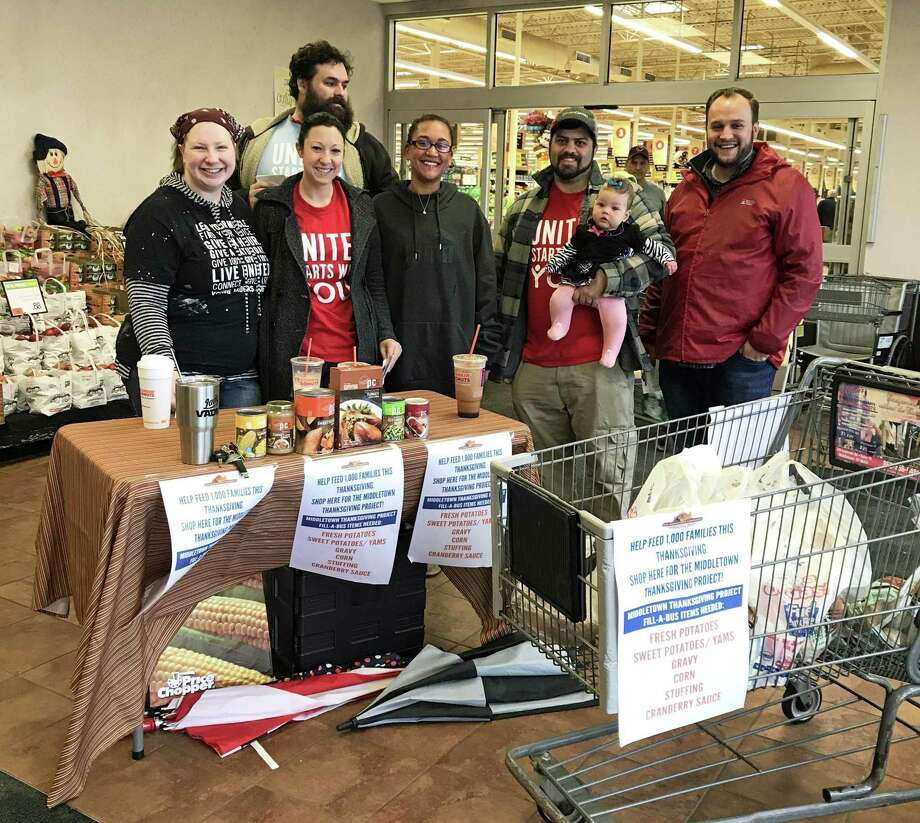 Many individuals, schools, organizations, businesses, churches and nonprofits came together to prepare more than 950 baskets of food for the Middletown Community Thanksgiving Project. Photo: Contributed Photo