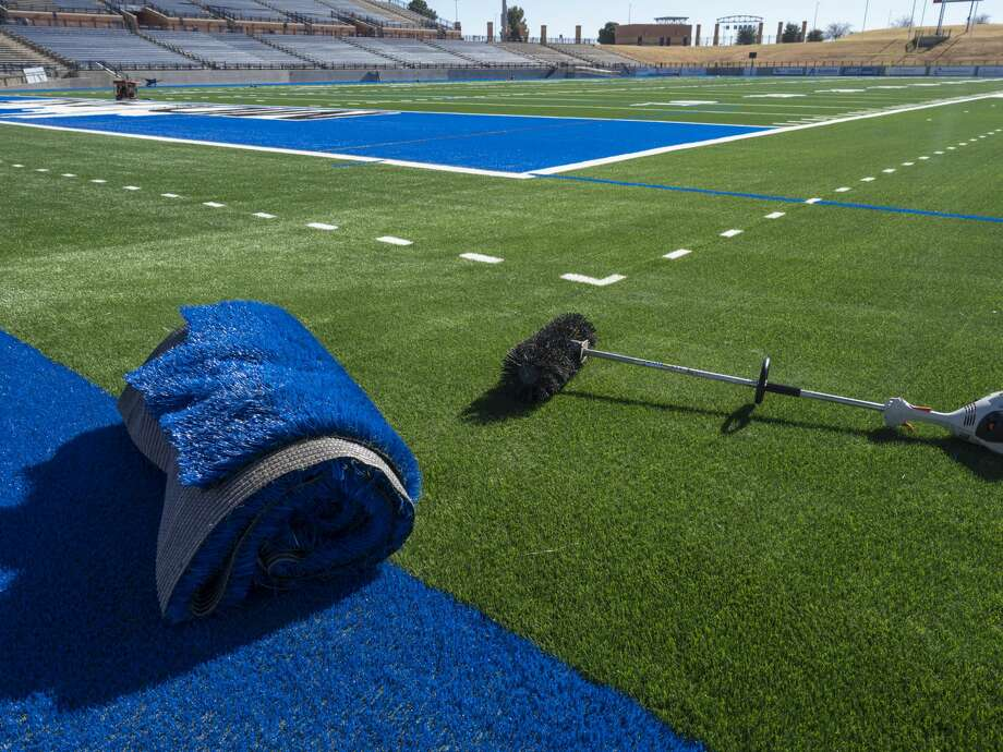 New turf is nearly finished at Grande Communications Stadium 01/04/19. Tim Fischer/Reporter-Telegram Photo: Tim Fischer/Midland Reporter-Telegram