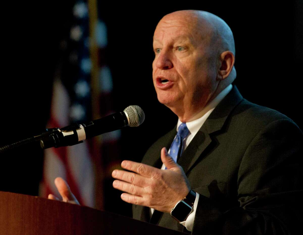 U.S. Rep. Kevin Brady, R-The Woodlands, speaks during the 2017 The Woodlands Economic Outlook Conference. Brady will once again speak at the signature business event of the spring calendar, which will see the usual focus on national, state and local business trends as well as feature an innovation panel discussion focused on shipping and ports.