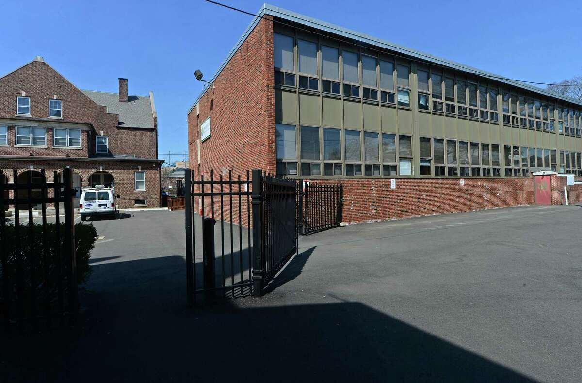 Norwalk?'s only public charter school, Side by Side Charter School, Tuesday, April 11, 2017, on South Main Street in Norwalk, Conn. Side by Side will start construction on a new building in the parking lot of its St. Joseph's church campus in South Norwalk this summer. The $3.6 million, two-story, 11,600-square foot building will replace a cramped and aging temporary portable that has housed the school?'s upper grade classrooms for years.