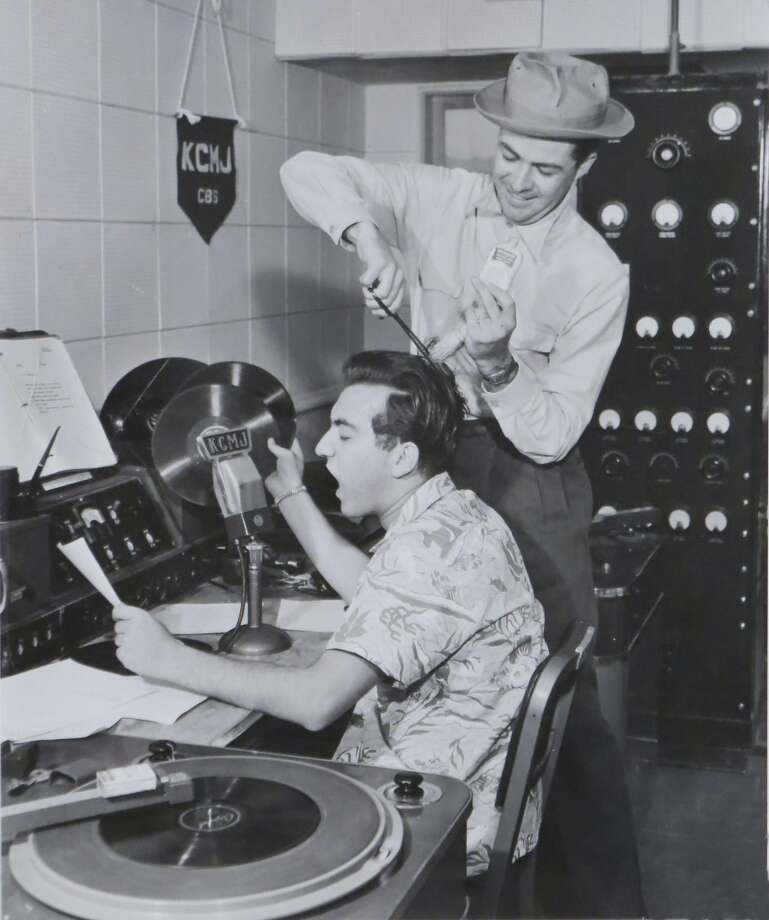 "Laboe works at KCMJ in Palm Springs in 1947. He credits his ""Connection Show"" fans for keeping him on the air. Photo: Courtesy Art Laboe 1947"