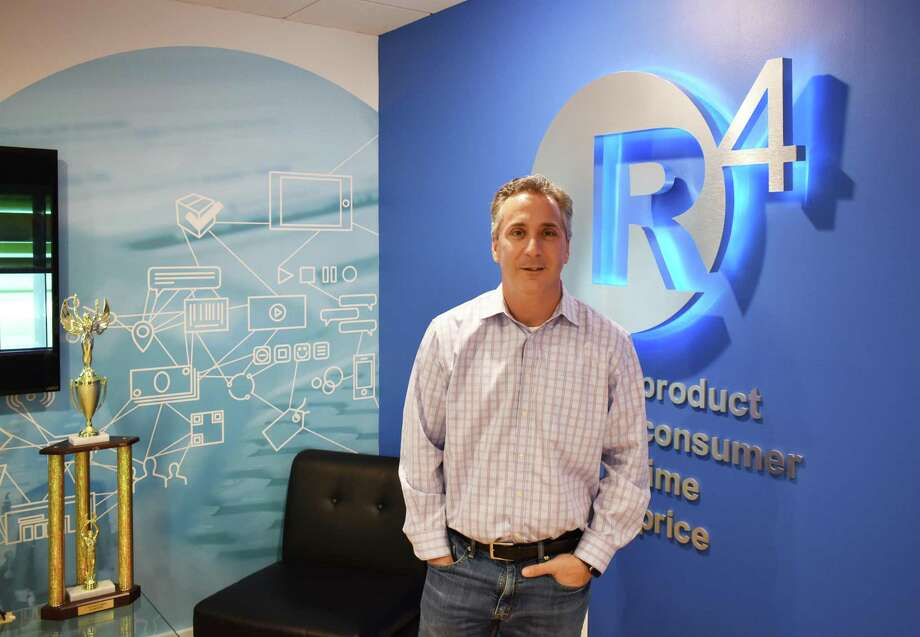 Paul Breitenbach in December 2018 at the Ridgefield, Conn. headquarters of his r4 Technologies. Photo: Alexander Soule / Hearst Connecticut Media / Stamford Advocate