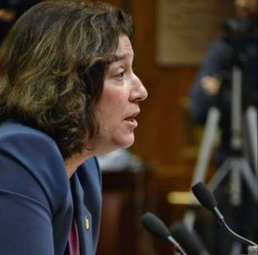 Maria Vullo, Superintendent of Financial Services speaks during a hearing on regulating student loans Tuesday Nov. 27, 2918 in Albany, NY.