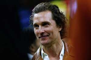 NEW ORLEANS, LOUISIANA - JANUARY 01: Actor Matthew McConaughey looks on during the second half of the Allstate Sugar Bowl between the Georgia Bulldogs and the Texas Longhorns at the Mercedes-Benz Superdome on January 01, 2019 in New Orleans, Louisiana. (Photo by Jonathan Bachman/Getty Images)