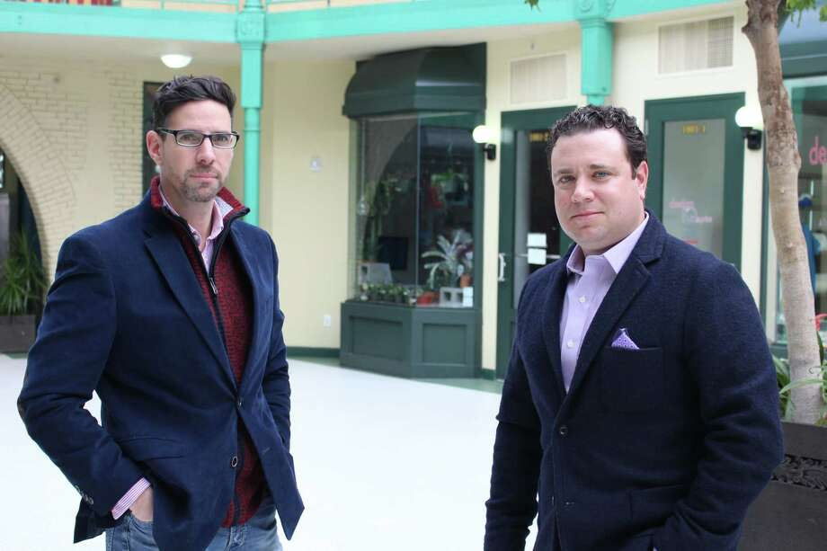 (Left to Right) Brian Soto and Max Pastor of Time Equities Inc. With the acquisitions, TEI now owns roughly 240,000 square feet of property downtown, including 176 units of apartments and 95,000 square feet of retail commercial space including storefronts in the northern part of downtown that have been vacant for years. Photo: Jordan Grice, Hearst Connecticut Media / Connecticut Post
