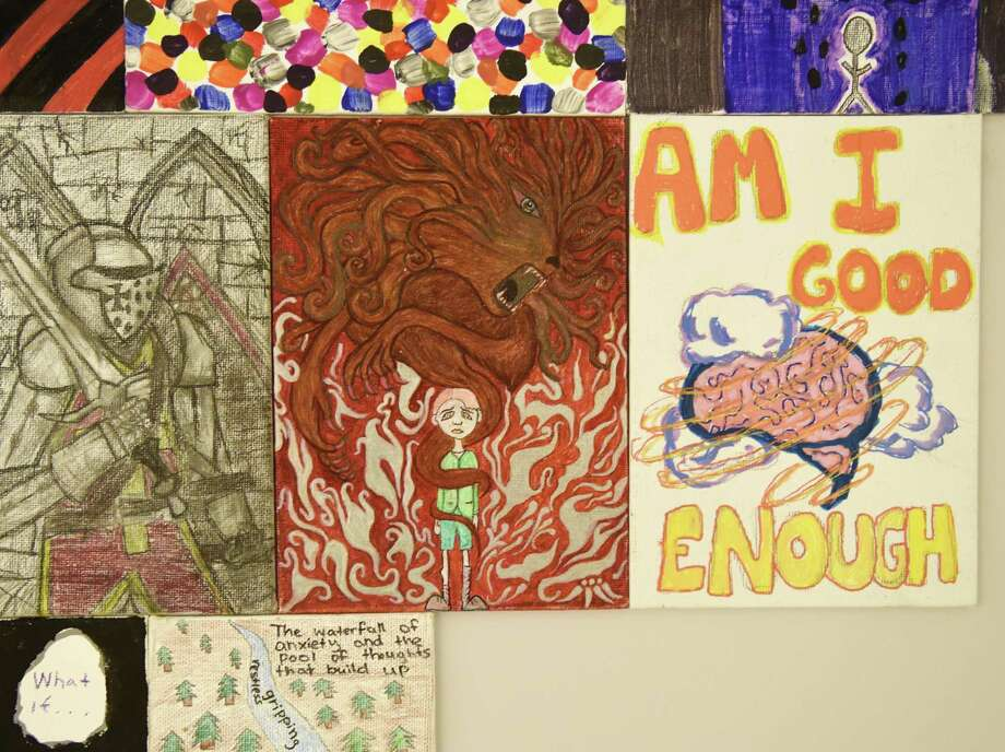 The IndieFlix Original documentary film 'Angst,' which is designed to raise awareness around anxiety, will be shown in the meeting room at the Greenwich Library from 7 to 9 p.m. Jan. 10. There will be a Q & A session after the film sponsored by the Anxiety Institute of Greenwich, which shows off drawings by patients (above). Seating is limited, and registration is suggested by visiting greenwichlibrary.org. Photo: File / Hearst Connecticut Media / Greenwich Time