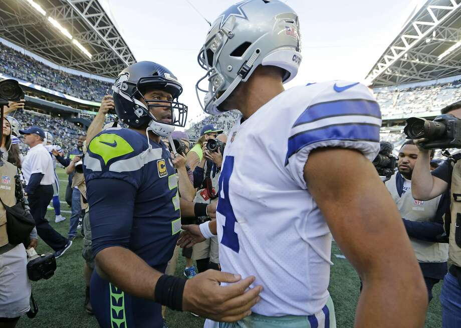 The Seahawks (10-6) and Cowboys (10-6) square off in the first of two NFC Wild Card games this weekend. Kickoff is slated for 5:15 p.m. PT Saturday from AT&T Stadium in Arlington, Texas.  Photo: John Froschauer, Associated Press