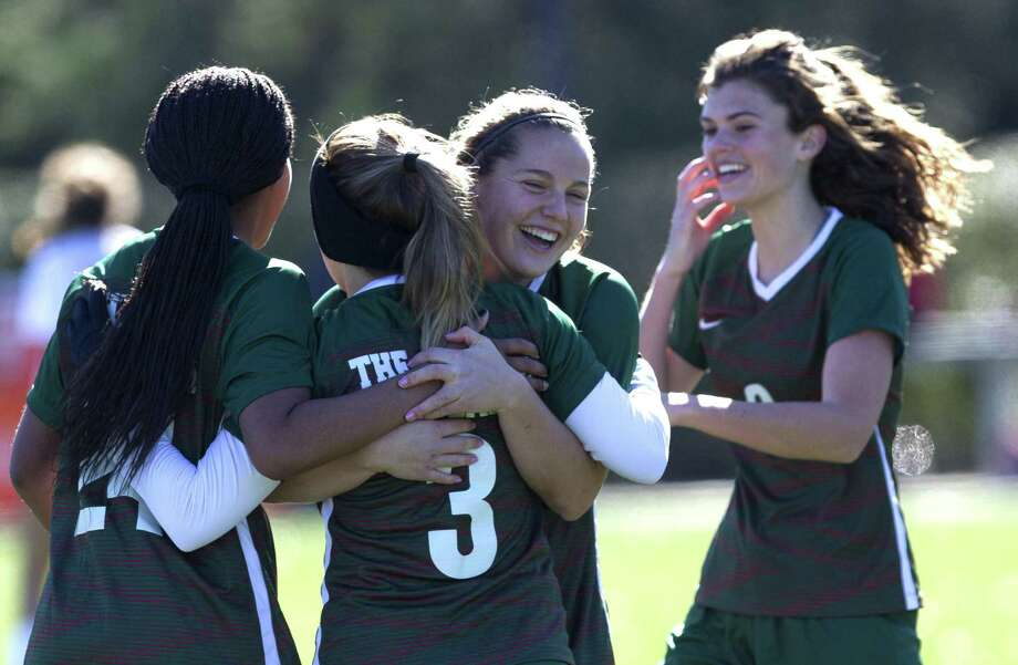 The Woodlands players react after a goal by Lauren Toma in the second period of a match during the Lady Highlander Invitational at Gosling Sports Complex, Friday, Jan. 4, 2019, in The Woodlands. Photo: Jason Fochtman, Houston Chronicle / Staff Photographer / © 2018 Houston Chronicle