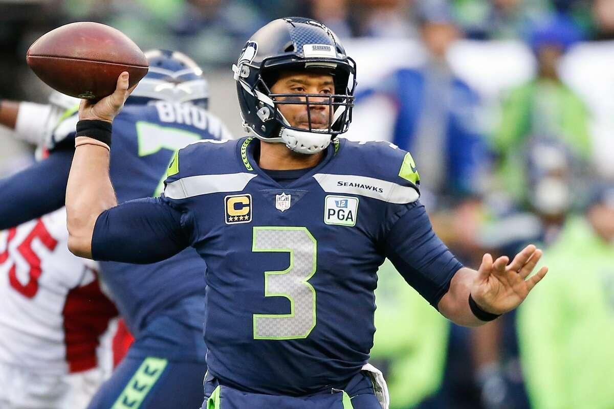 SEATTLE, WA - DECEMBER 30: Russell Wilson #3 of the Seattle Seahawks throws the ball in the third quarter against the Arizona Cardinals at CenturyLink Field on December 30, 2018 in Seattle, Washington. (Photo by Otto Greule Jr/Getty Images)