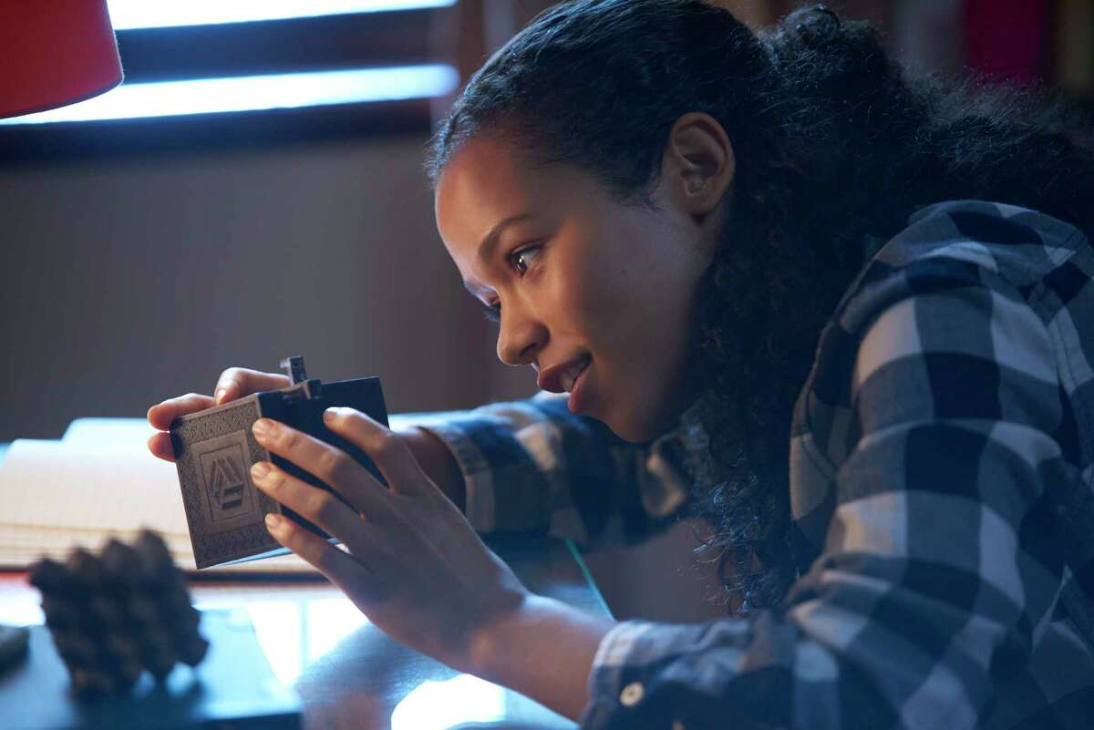 This image released by Sony Pictures shows Taylor Russell in