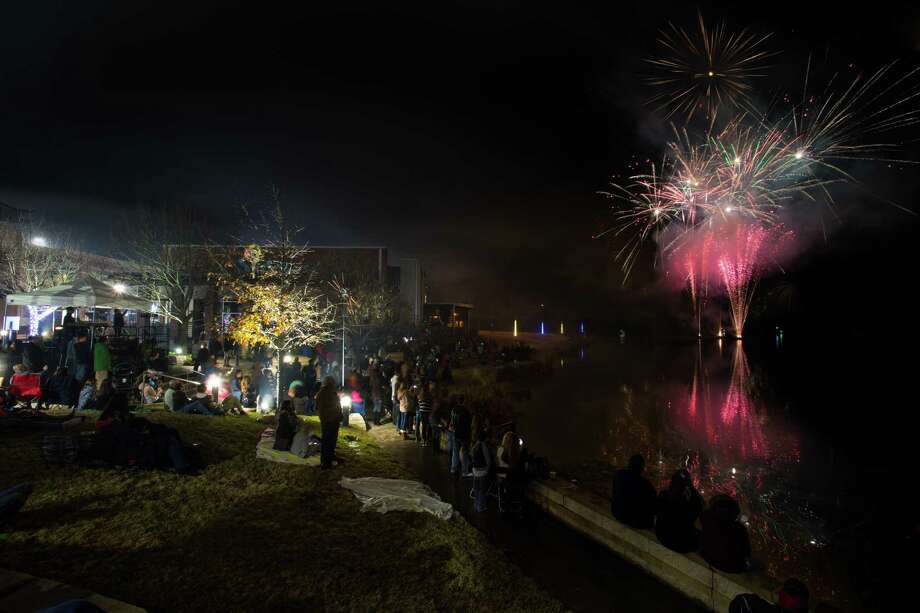 "A fireworks show capped off the ""New Year, New Harbor"" event on New Year's Eve. Katrina Buerger, Midway's marketing coordinator, said there were 1,000-1,500 attendees. Photo: Courtesy Of Midway, Photographer / Shannon O'Hara / copyright 2014 Shannon O'Hara"