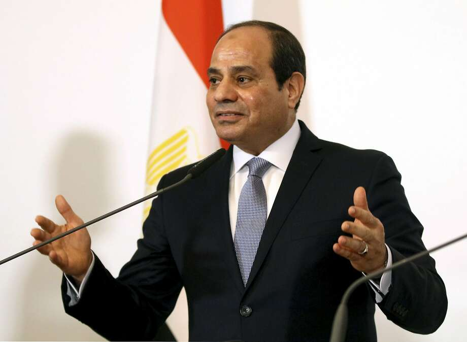 The Egyptian government asked CBS not to air the interview with President Abdel-Fattah el-Sissi. Photo: Ronald Zak / Associated Press 2018