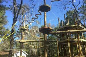 Texas TreeVentures, located in Rob Fleming Park, was one of the amenities that helped The Woodlands Township Parks and Recreation Department nab the 2019 National Gold Medal Award Grand Plaque for Excellence in Park and Recreation Management. The course added a new dimension to regional recreational options when it opened in 2019.