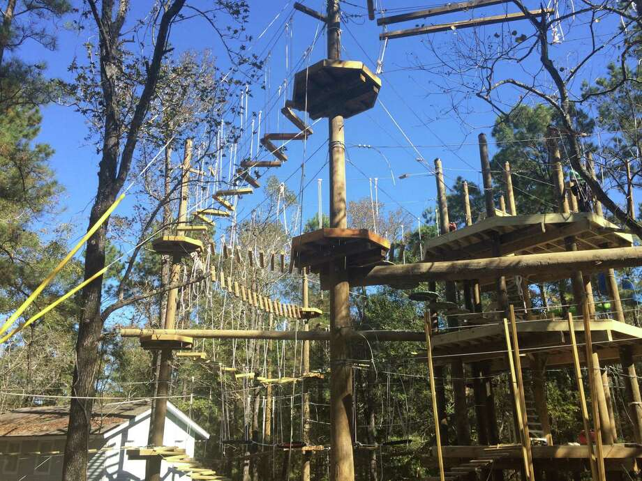 The Woodlands Township's unique new recreational option for residents and visitors - a high-ropes tree-based obstacle course with more than 60 features. Called Texas TreeVentures, the park is currently closed and in the final stages of construction, with an estimated opening slated for April 19, 2019. The course is still an active construction site and the public is forbidden from entering the dangerous construction zone. Located in Rob Fleming Park, the course will add a new dimension to regional recreational options. Photo: Photos By Jeff Forward/The Villager / Photos By Jeff Forward/The Villager