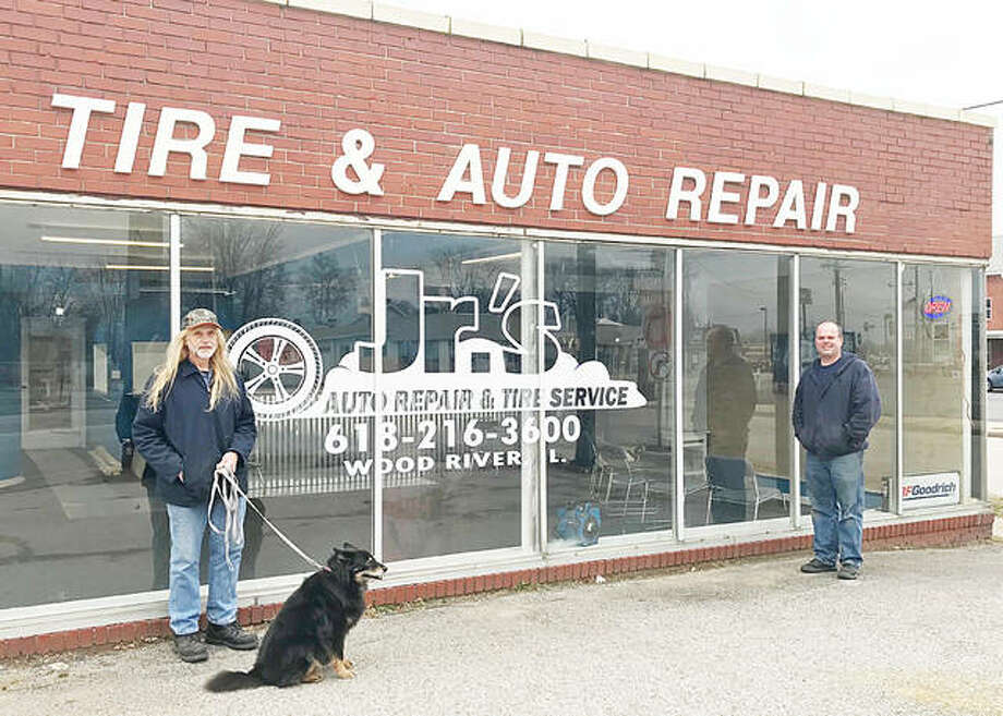 Father-son duo Jr. and Shawn Smith re-opened Jr.'s Tires on Wednesday after being closed for the last eight years. Photo: Riley Newton   The Telegraph