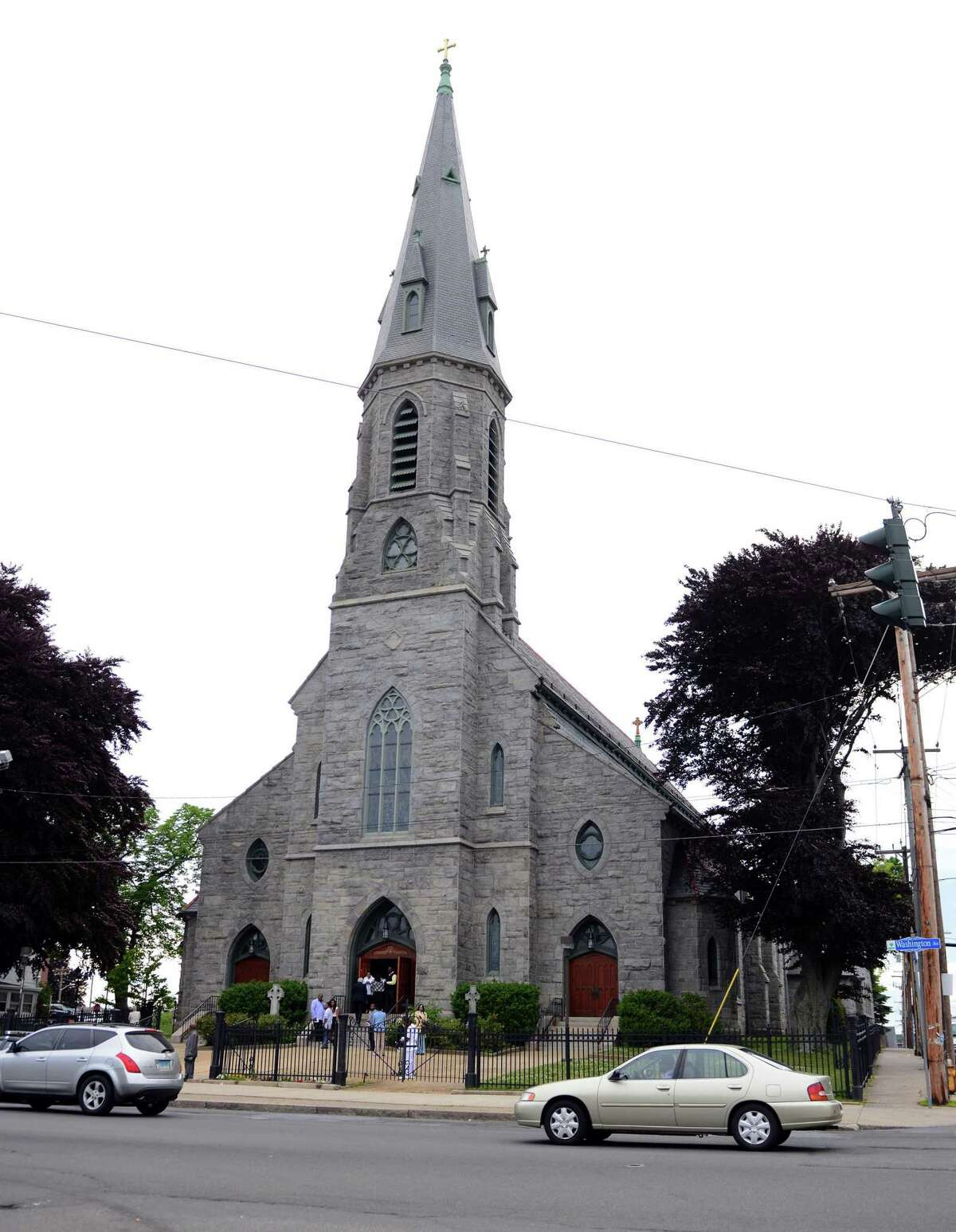 FILE PHOTO - St. Augustine Cathedral in Bridgeport, Conn.