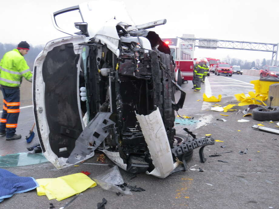 I-90 rollover in Albany backs up traffic - Times Union