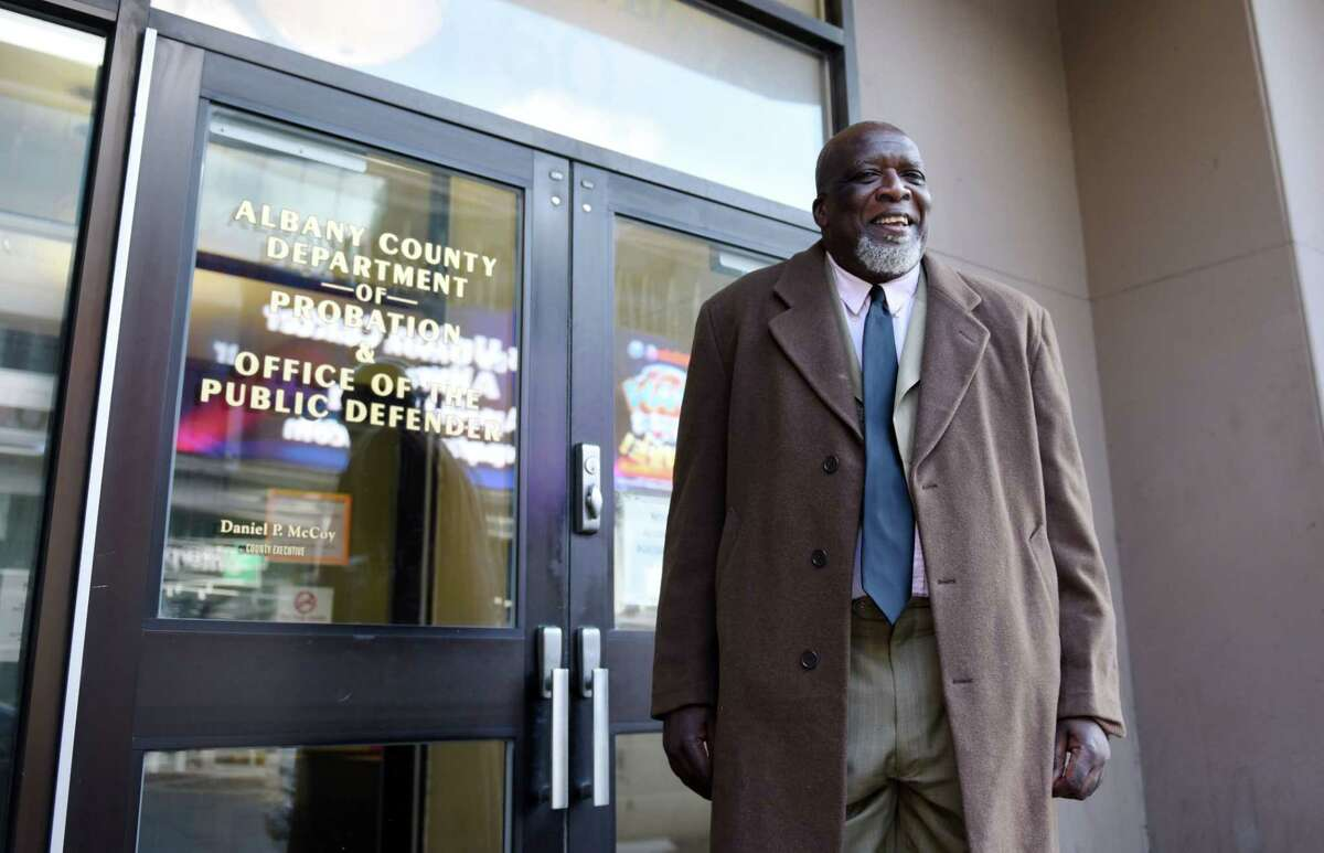 Assistant Community Program Educator Maurice Rucker stands for a portrait Thursday, Jan. 3, 2019 at the Albany County Probation Department in Albany, N.Y. (Phoebe Sheehan/Times Union)