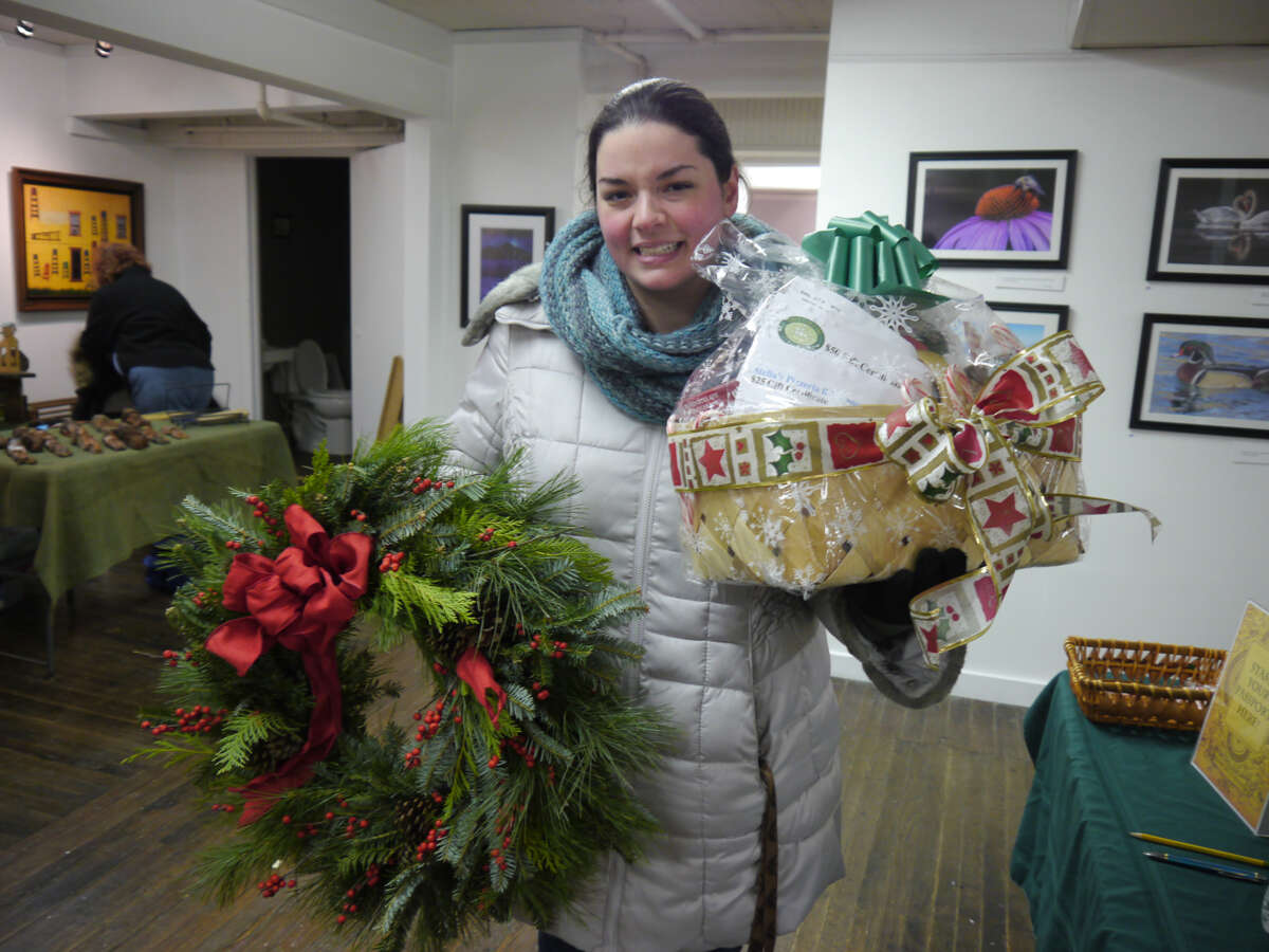Nicole Sallese won the Passport Raffle contest during the Athens Cultural Center'sannual Victorian Stroll competition last month. (Submitted)