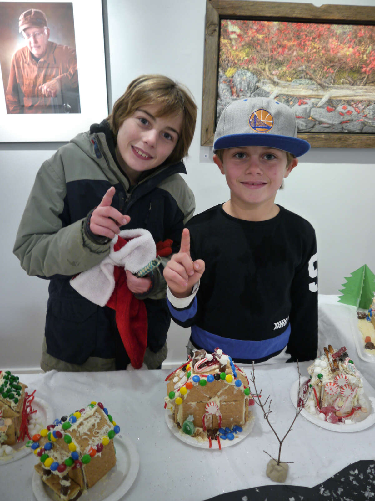 William and Westin Martin took first place with their creative design in the Athens Cultural Center'sannual Victorian Stroll competition last month and won the Holiday Cottage contest.