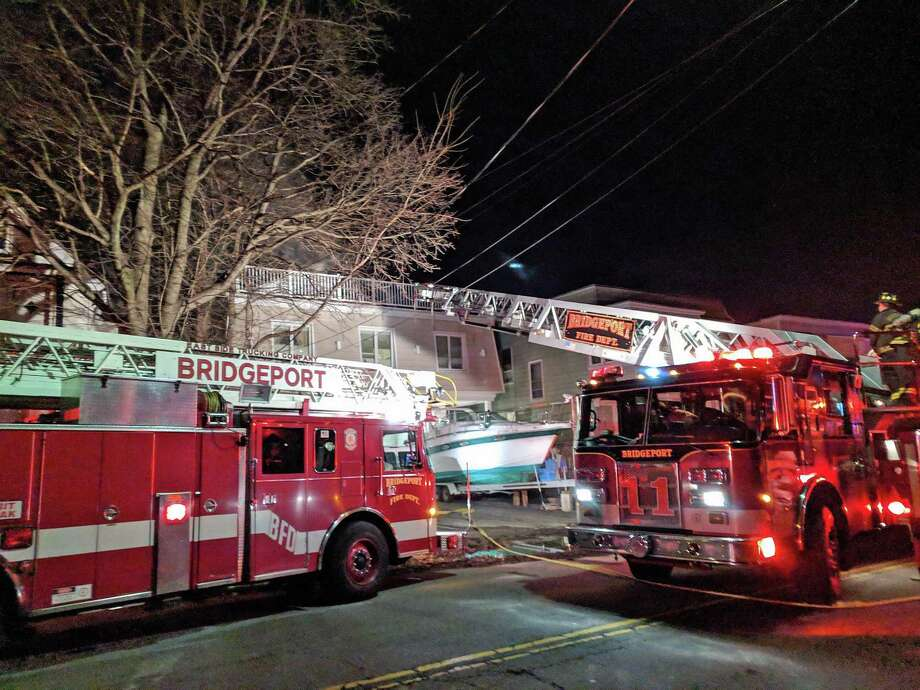 A fire broke out shortly after 10 p.m. on Jan. 4, 2019, and firefighters rushed to the fish market at 230 Dewey St. in Bridgeport, Conn. The first units on scene said there was heavy smoke on the second floor, Deputy Fire Chief Lance Edwards said. Photo: Contributed Photo / Contributed Photo / Connecticut Post Contributed