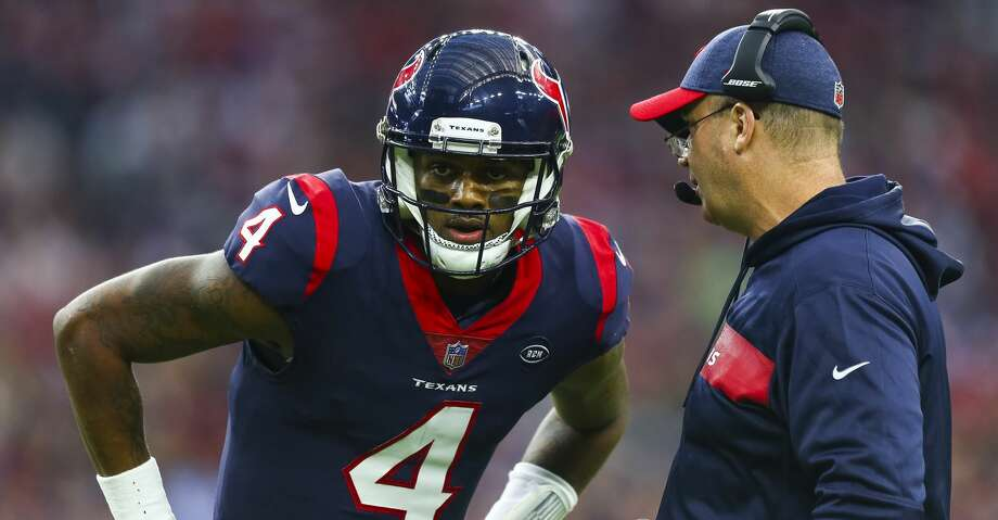 PHOTOS: What to know aboutTexans' 2019 first-round draft pick Tytus Howard Houston Texans quarterback Deshaun Watson (4) talks to Houston Texans head coach Bill O'Brien during the second quarter of an NFL first round playoff game between the Houston Texans and the Indianapolis Colts at NRG Stadium Saturday, Jan. 5, 2019, in Houston. >>>Everything you need to know about the Texans' top draft pick ... Photo: Godofredo A. Vasquez/Staff Photographer