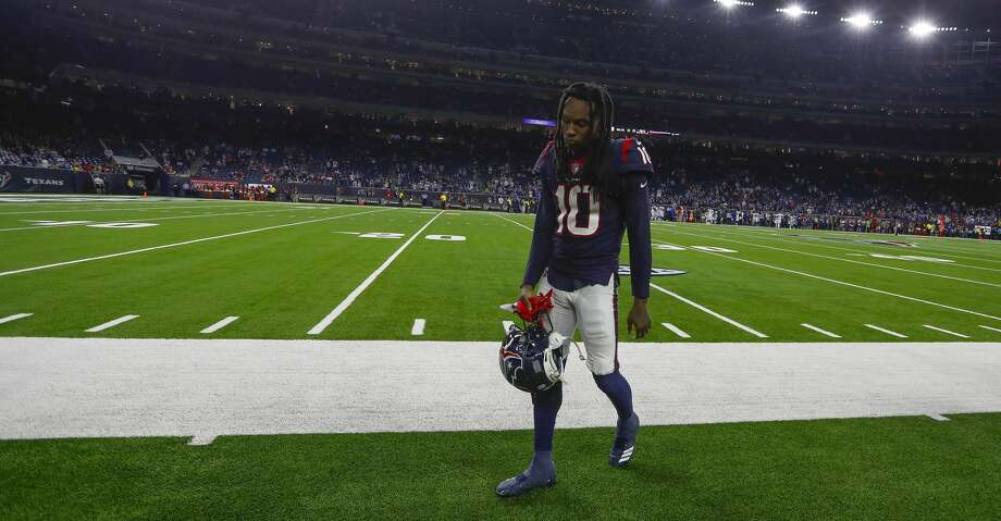 90de403e2 PHOTOS  Texans vs. Colts Houston Texans wide receiver DeAndre Hopkins (10)  walks